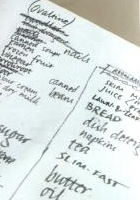 Shopping list by Kate          Gladstone